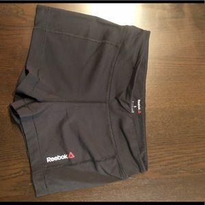 Black reebok booty shorts